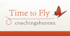 Logo en website Time to Fly, Coaching in Veenendaal